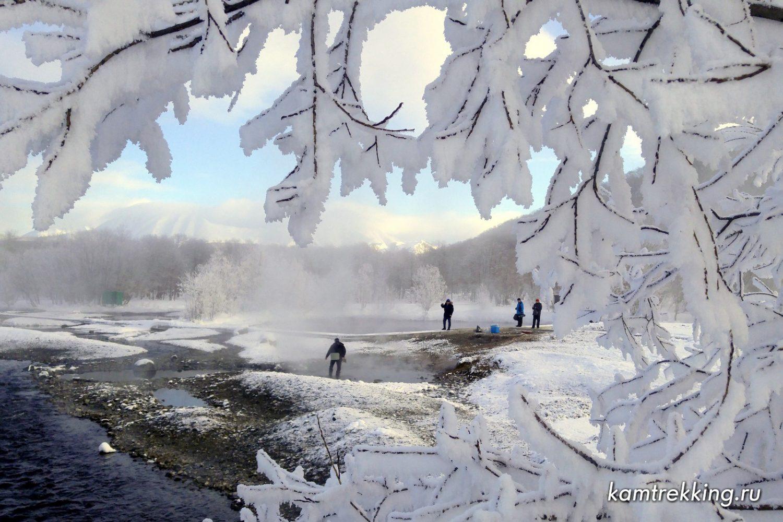 Туры на Камчатку зимой, горячие источники