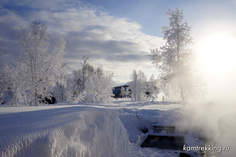 Туры на Камчатку, горячие источники зимой