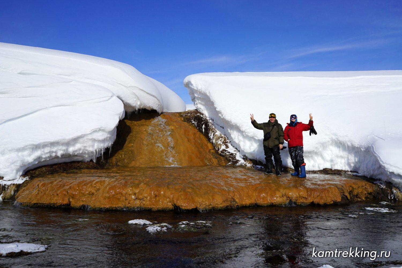 Туры на Камчатку, травертиновый водопад
