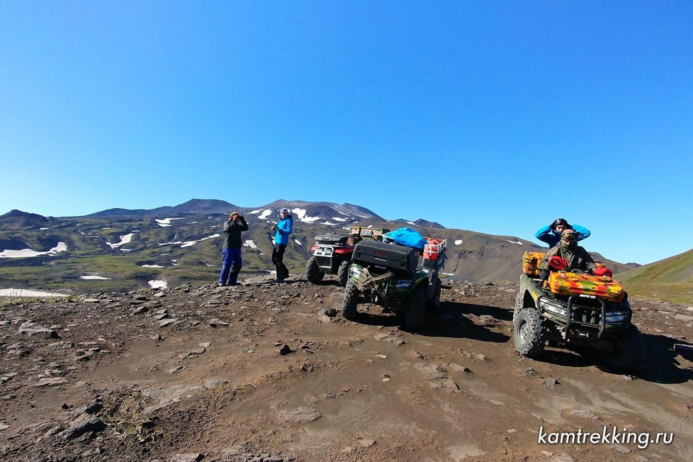 Туры по Камчатке на квадроциклах, вулкан Горелый