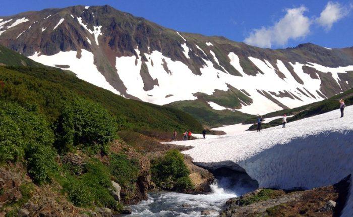 Экскурсии на Камчатке, горный массив Вачкажец