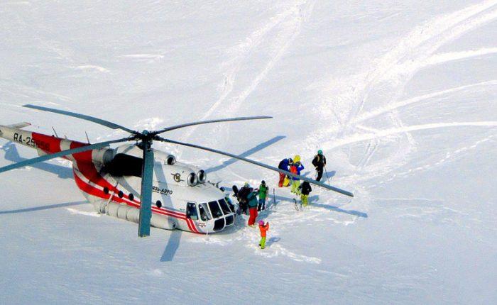 Туры на Камчатку из Москвы, Хели-ски на Камчатке